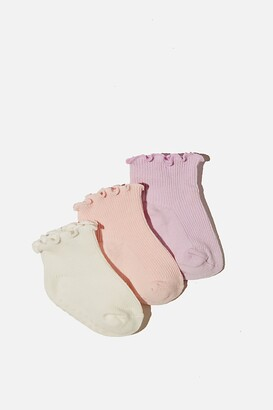 Cotton On 3Pk Baby Socks