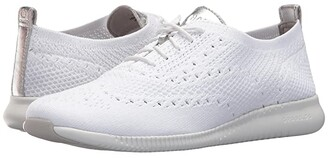 Cole Haan 2.Zerogrand Stitchlite Oxford (Rye Knit/Optic White) Women's Shoes