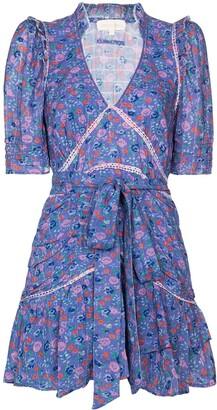 LoveShackFancy Arlo floral-print mini dress