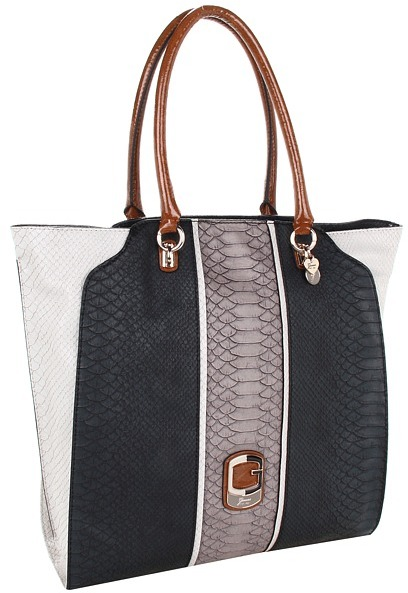 GUESS Tisbury Tote (Black Multi) - Bags and Luggage