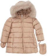 ADD Fur Trimmed Hooded Jacket