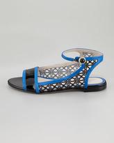 Jason Wu Flat Ankle-Wrap Lace Flat