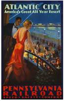 Art.com Atlantic City Pennsylvania Railroad Poster Premium Giclee Print - 91x137 cm