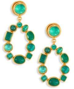 Gurhan Amulet Hue Emerald & 24K Yellow Gold Drop Earrings
