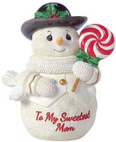 "Precious Moments To My Sweetest Mom"" Snowman Christmas Figurine"