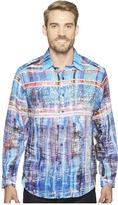 Robert Graham Calabasas Long Sleeve Woven Shirt Men's T Shirt