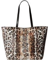 Just Cavalli Mixed Printed Saffiano Shopping Tote Tote Handbags