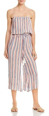 Elan International Striped Culotte Jumpsuit