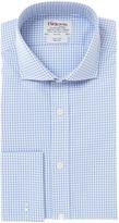 T.M.Lewin Men's Gingham Cutaway Collar Slim Fit Shirt