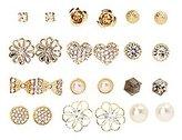 Charlotte Russe Embellished Glam Stud Earrings - 12 Pack