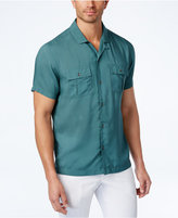 INC International Concepts Men's Ultra-Soft Camp Collar Shirt, Created for Macy's