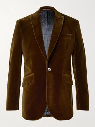 Favourbrook Newport Slim-Fit Cotton-Velvet Suit Jacket