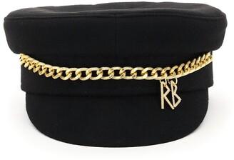 Ruslan Baginskiy Chain-Embellished Baker Boy Hat