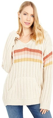 Rip Curl Sunshine Stripe Sweater (Bone) Women's Clothing