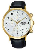 Lorus Mens leather strap chronograph watch