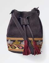 Fat Face Mini Embroidered Bucket Bag