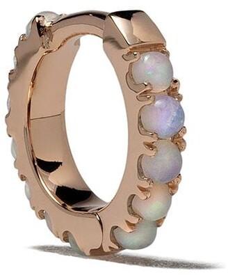 White Bird 18kt rose gold opal Ismène hoop single earring
