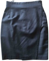 Gianni Versace Grey Wool Skirt for Women Vintage