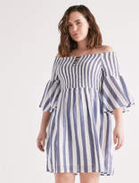 Lucky Brand Stripe Smocked Dress
