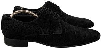 Christian Dior Black Suede Lace ups