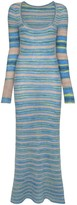 Jacquemus striped knit maxi dress