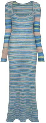 Jacquemus striped knit maxi dress