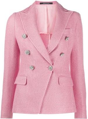 Tagliatore Jalicya double breasted tweed blazer