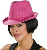Pin-striped fedora hat