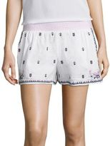 Calypso St. Barth Tadzi Embroidered Linen Shorts