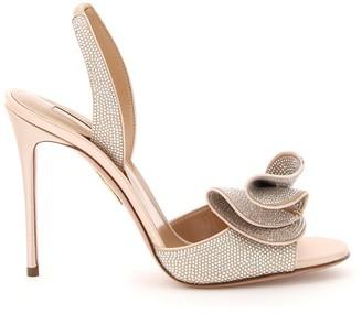 Aquazzura Cherry Crystal Sandals 105