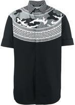 Neil Barrett patterned camouflage shirt
