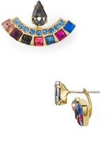 Rebecca Minkoff Multi-Colored Front-Back Earrings