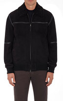 Ermenegildo Zegna Men's Shearling Bomber Jacket-BLACK
