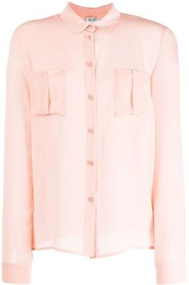 Liu Jo Silk Long-Sleeve Blouse