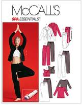 Mccall's M4261 Misses'/Miss Petite Unlined Jacket, Top, Bra, Pants In 2 Lengths, Skirt and Bag