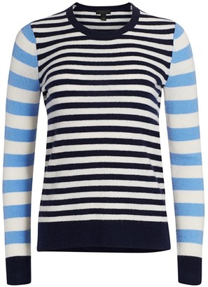 Saks Fifth Avenue COLLECTION Stripe Cashmere Sweater