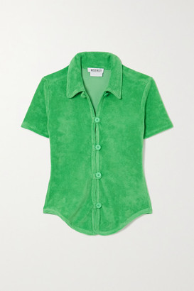 MAISIE WILEN New Curriculum Cotton-blend Terry Shirt - Green