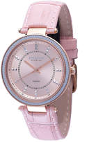 Johan Eric Ballerup Quartz Diamond Orange Leather Strap Watch