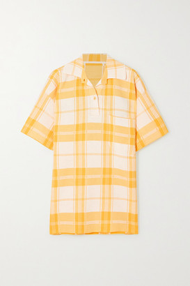 Jacquemus Torchon Oversized Checked Cotton-blend Shirt - Yellow