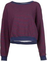 NSF striped loose sweatshirt