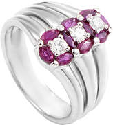 Damiani 18K 1.30 Ct. Tw. Diamond & Ruby Ring