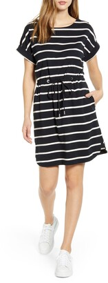 Tommy Bahama Sombra Stripe Tie Waist Dress