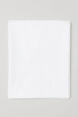 H&M Cotton Percale Flat Sheet - White