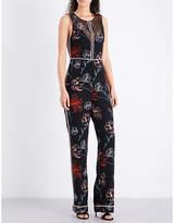 Diane von Furstenberg Floral-print silk jumpsuit