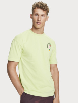 Scotch & Soda Parrot Artwork T-Shirt   Men