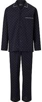 John Lewis Diamond Dot Pyjamas, Navy