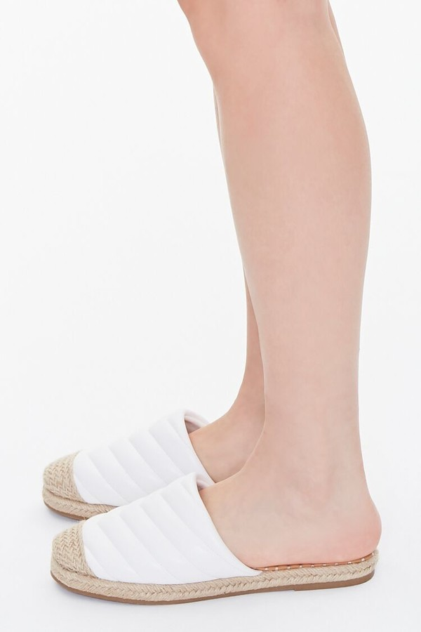 Thumbnail for your product : Forever 21 Quilted Espadrille Flats