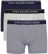 Ralph Lauren Classic Stretch Cotton Boxer Briefs - Set Of Three