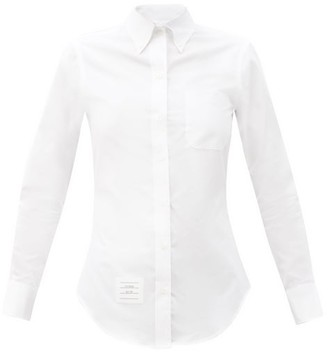 Thom Browne Point-collar Slim-fit Cotton-poplin Shirt - White