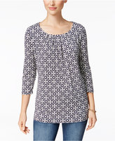 Charter Club Iconic-Print Crew-Neck Top, Only at Macy's